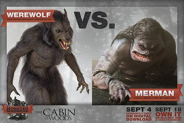 Werewolf-vs-Merman-the-cabin-in-the-woods